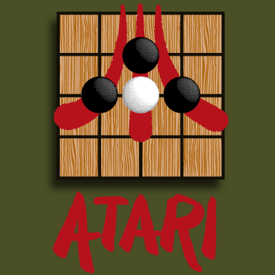 A play on the Atari logo based on a term used in the game of go