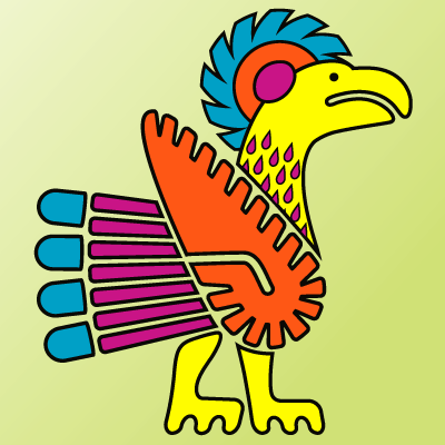 A contemporary version of an ancient Mayan bird