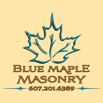 A logo for Blue Maple Masonry
