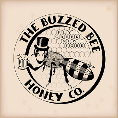 A logo design for Buzzed Bee Honey Co