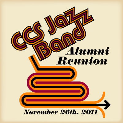 A design for a Cooperstown Central School Jazz Band reunion