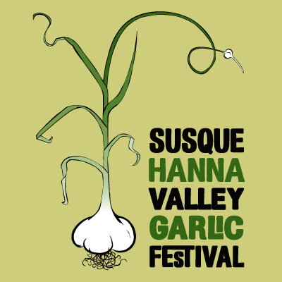 A poster design for the Susquehanna Valley Garlic Festival